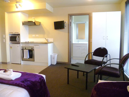 Studio Room With Kitchenette Including 2 Stove Hobs, Under Bench Oven,  Microwave And Mini Fridge. No Service. For Pricing And Minimum Nights Stays  Or Longer ...